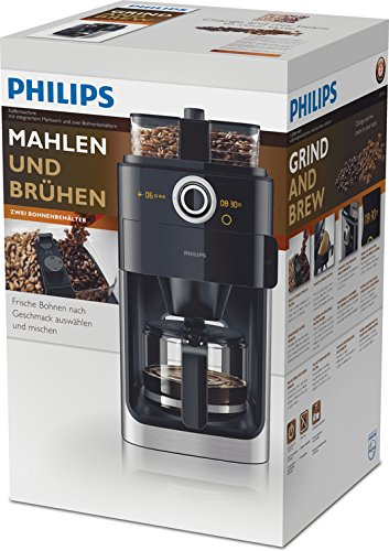 test philips hd7766 00 grind brew kaffeemaschine mit mahlwerk. Black Bedroom Furniture Sets. Home Design Ideas