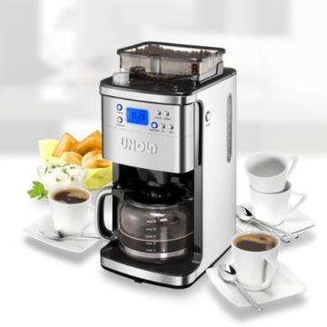 Unold 28736 Kaffeeautomat mit integrierter Mühle, Kaffeemühle -
